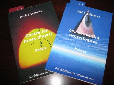 Deux recueils parus en 2013 aux Éditions de l'étoile de mer