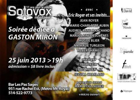 Soirée Miron