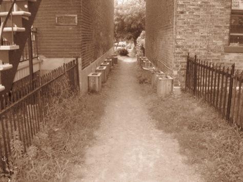 Passage entre deux maisons à Verdun